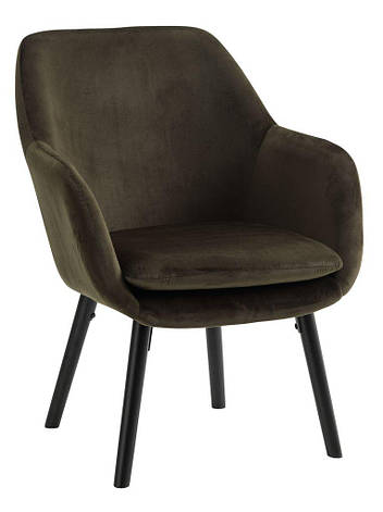 Стильное мягкое кресло темно зеленое, фото 2