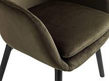 Стильное мягкое кресло темно зеленое, фото 3