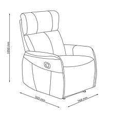 Кресло многопозиционное с выдвижным механизмом для ног из искусственной кожи, фото 3