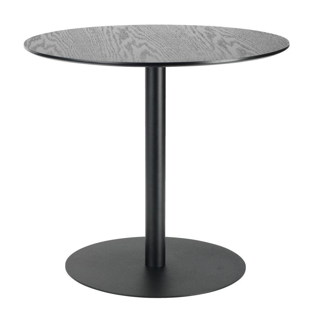 Столик круглый черный на металлической ножке