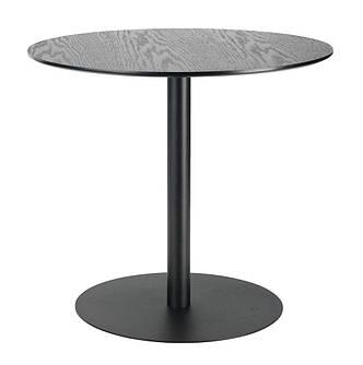 Столик круглый черный на металлической ножке, фото 2