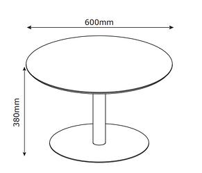 Большой круглый кофейный столик на металлической ножке, фото 2