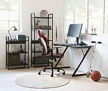Кресло компьютерное на фрикционных колесиках (эко кожа) черно красное, фото 2