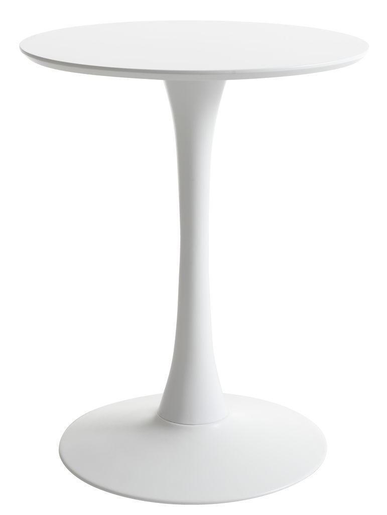 Столик круглый белый на ножке (60 см)