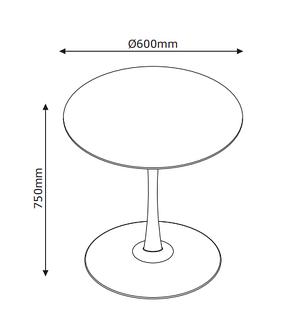 Столик круглый белый на ножке (60 см), фото 3