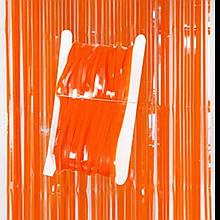 Дождик штора для фотозон макарун оранжевая  1*2 м