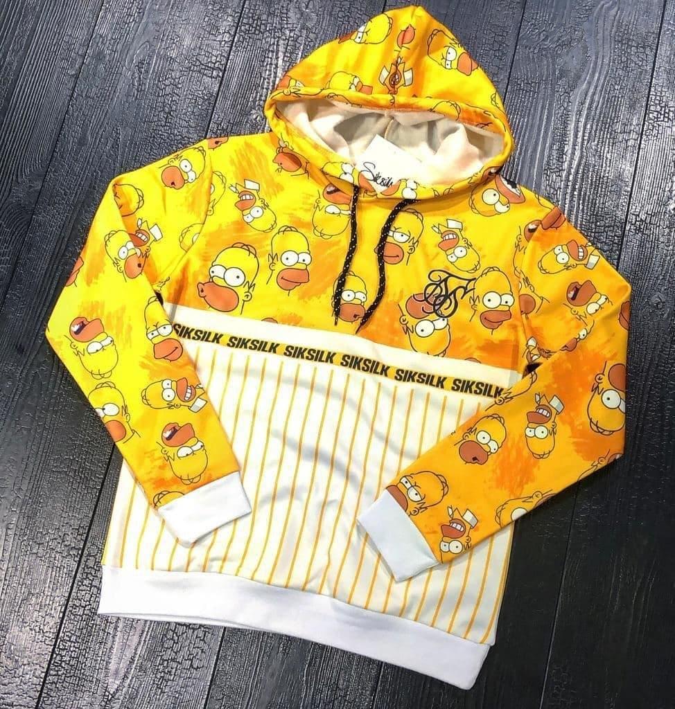 Мужская кофта худи Sik Silk M654 желтая