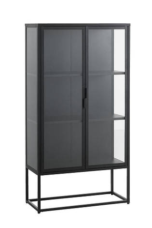 Сервант черный из метала и закаленного стекла (лофт), фото 2