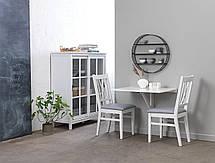 Комплект белой мебели для балкона (приставной складной столик и 2 стула), фото 2