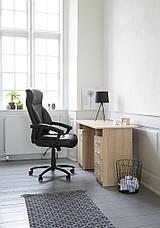 Крісло офісне чорне із штучноі шкіри с кутом нахилу  (крісло керівника), фото 3