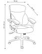 Крісло офісне чорне із штучноі шкіри с кутом нахилу  (крісло керівника), фото 2