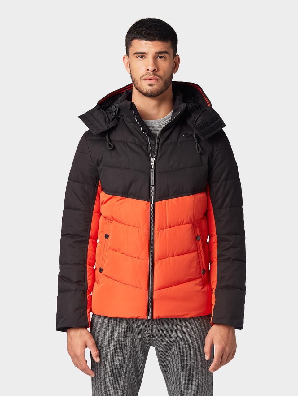 Куртка Tom Tailor 1012104 S Черный с оранжевым
