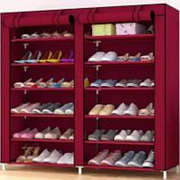 Тканевый Шкаф Складной Шкаф На 2 Секции Шкаф Для Обуви Органайзер Для Хранение Вещей