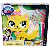 Игровой набор Литл пет шоп Укрась зверюшку - Котенок (Обновленный). Оригинал Hasbro