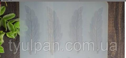 Форма силиконовая молд перья мастики шоколада 6*2 см из 4х шт