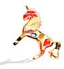 Брошь брошка единорог единорожка пони лошадь ПЕРЛАМУТР очень красивая, фото 3