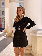 Женское платье замша на дайвинге пудра черный красный графит коричневый 42-44 46-48