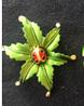 Брошь брошка божья коровка сонечко на листике обьемная, фото 5
