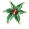 Брошь брошка божья коровка сонечко на листике обьемная, фото 6