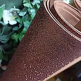 Фоамиран глиттерный коричневый 2 мм рулонный, фото 2