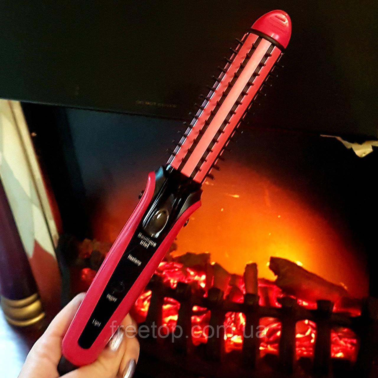 Плойка прасочку для волосся 3 в 1 Nova NHC-8890