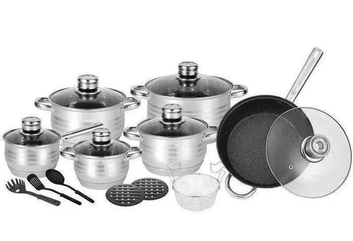 Набор посуды, кастрюль Rainberg RB-602 из 18 предметов