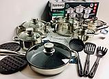 Набор посуды, кастрюль Rainberg RB-602 из 18 предметов, фото 5