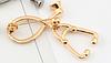 Брошь брошка знак значок врач доктор фонендоскоп стетоскоп золотистый слушалка медсестра, фото 2