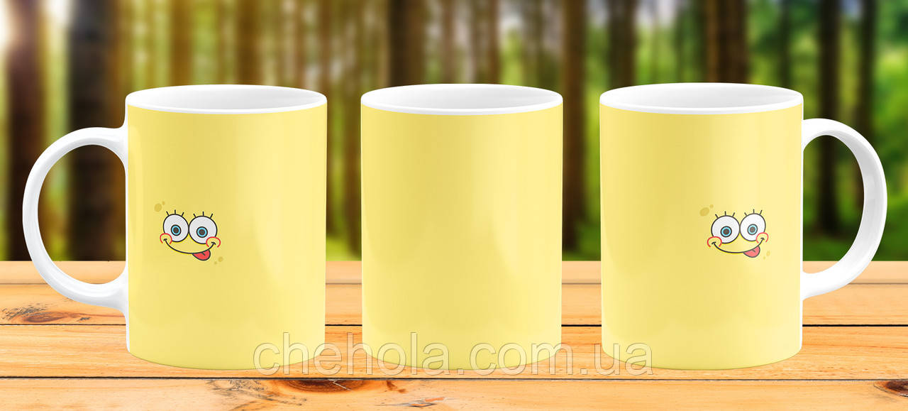 Оригінальна гуртка з принтом Губка боб Прикольна чашка подарунок Сину дочці