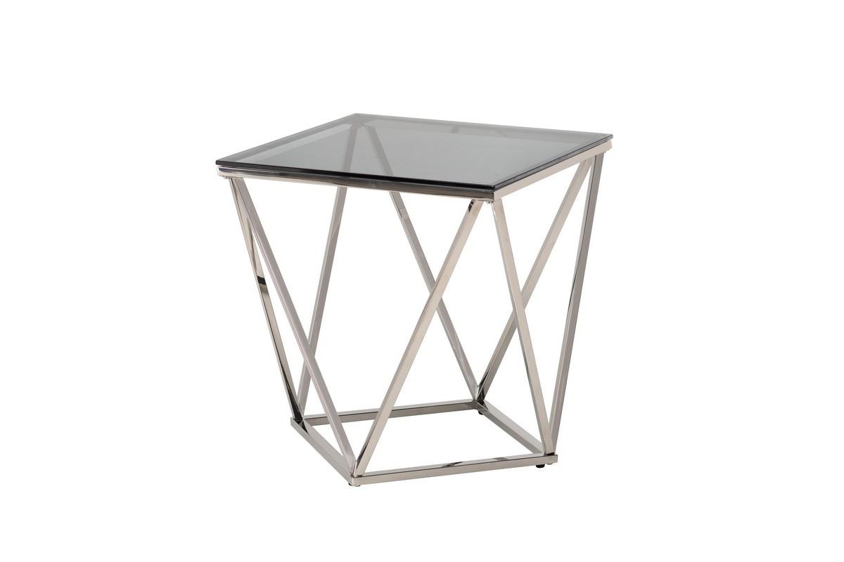 Кофейный стол CP-2 тонированный + серебро Vetro Mebel™