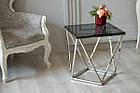 Кофейный стол CP-2 тонированный + серебро Vetro Mebel™, фото 8