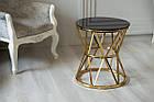 Журнальный стол CH-1 черный + золото Vetro Mebel™, фото 4
