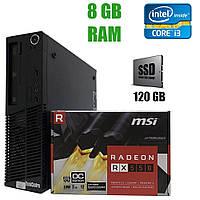 Acer X2632G DT / Intel Сore i3-4130 (2(4) ядра по 3.40 GHz) / 8GB DDR3 / 120 GB SSD / NEW Radeon RX 550 2 GB