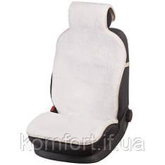 Накидка на сиденье автомобиля из натурального меха овчины (мутона) белый