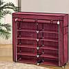 Тканевый Шкаф Складной Шкаф На 2 Секции Шкаф Для Обуви Органайзер Для Хранение Вещей, фото 3