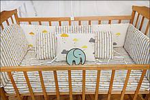 Комплект бортиків в ліжечко по периметру 8 подушок (в кольорах)