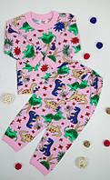 Пижама для девочек из кулира (100% хлопок), фото 1
