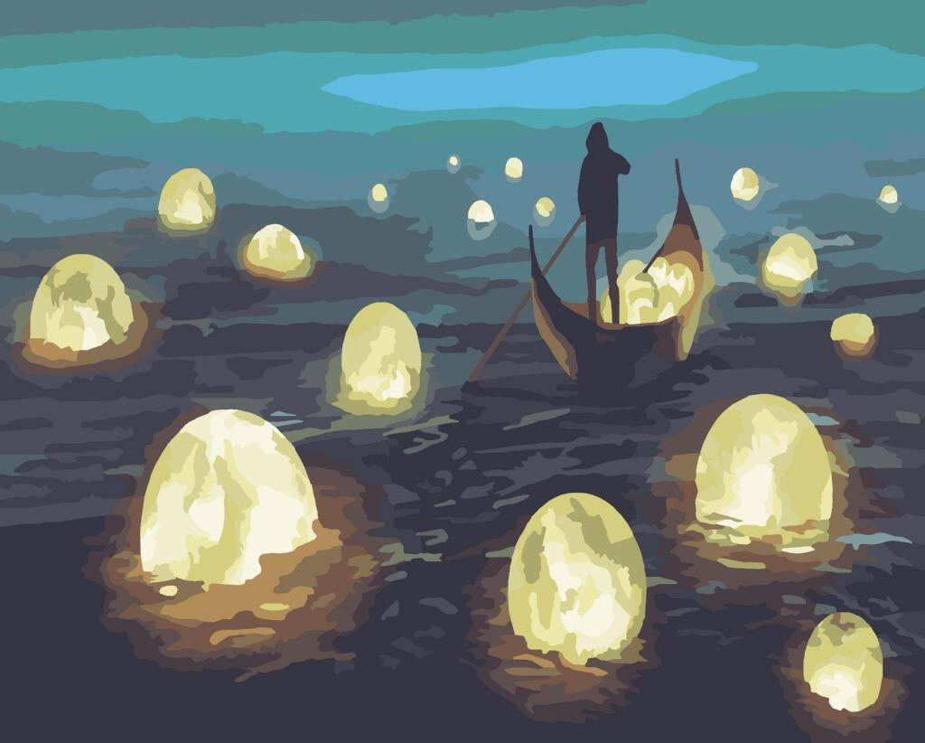50045 Ловець місячного світла Набір для малювання картини за номерами, Без коробки