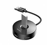 Hub адаптер Baseus Round Box C30A-03 CAHUB-F01 4 USB / Micro, Black