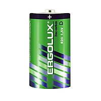 Батарейка Ergolux D R20 1.5V Zinc-Carbon, Green