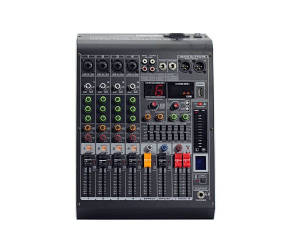 Микшерный пульт с усилителем 4all Audio MC-400D 4+1 2х350 Вт+48 В