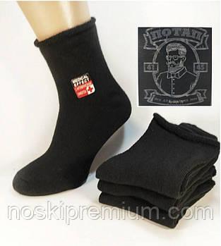 Носки мужские махровые медицинские, без резинки х/б Потап, 41-45 размер, чёрные, 011М