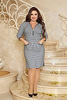 Женское полу-прилегающее жаккардовое платье больших размеров, фото 1