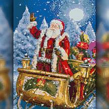 TWD70004 Набор алмазной вышивки Дед Мороз на санях, фото 2