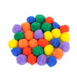 Разноцветные помпоны для сортировки (30 шт)