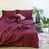 Комплект постельного  белья Страйп Сатин Кремовый, фото 5