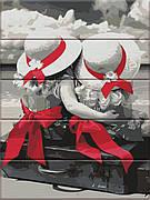 Картина по номерам ArtStory Подружки 40*30 см на дереве (в коробке) арт.ASW035