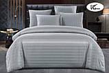 Комплект постільної білизни Страйп Сатин Бордо, фото 9