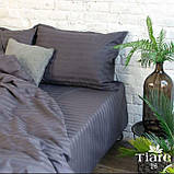 Комплект постельного  белья Страйп Сатин Бордо, фото 6