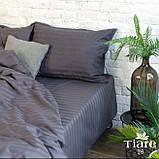 Комплект постільної білизни Страйп Сатин Бордо, фото 6